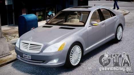 Mercedes-Benz S-Class 2007 для GTA 4 вид изнутри