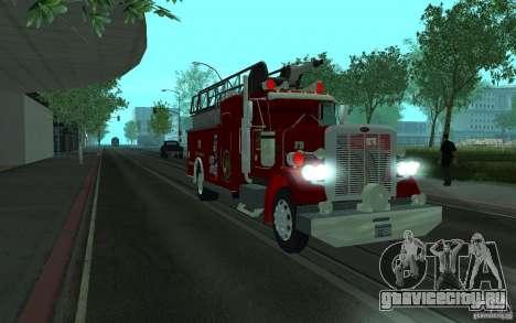 Peterbilt 379 Fire Truck ver.1.0 для GTA San Andreas вид сзади слева