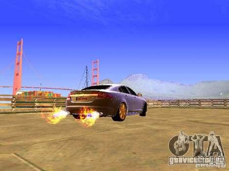 Jaguar XFR 2011 для GTA San Andreas вид сзади