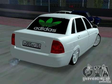 Lada Priora Adidas для GTA San Andreas вид сбоку