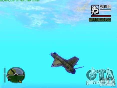 МиГ 21 new для GTA San Andreas вид справа