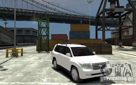 Toyota Land Cruiser 200 для GTA 4 вид сзади