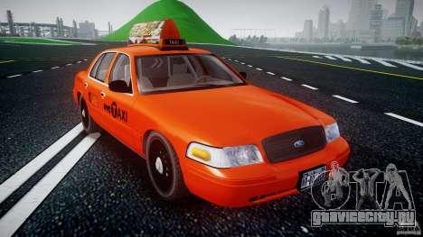Ford Crown Victoria 2003 v.2 Taxi для GTA 4 вид сзади