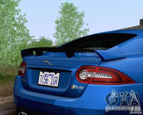 Jaguar XKR-S 2012 для GTA San Andreas вид сзади