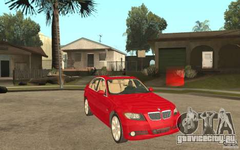 BMW 330i E90 v.2.0 для GTA San Andreas вид сзади
