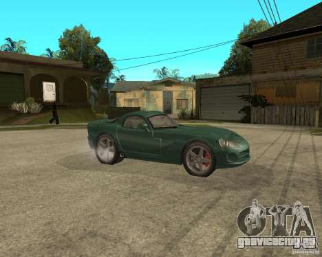 Dodge Viper Srt 10 для GTA San Andreas вид справа