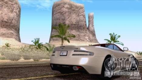 Aston Martin DBS Volante 2009 для GTA San Andreas вид справа