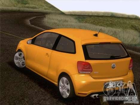 Volkswagen Polo GTI 2011 для GTA San Andreas вид снизу