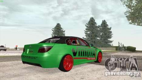 BMW M5 E60 Darius Balys для GTA San Andreas вид сзади