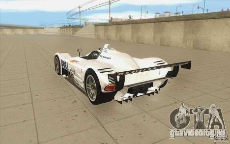 BMW V12 LeMans - Stock для GTA San Andreas вид сзади слева