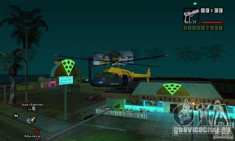 Helitours Maverick из GTA 4 для GTA San Andreas вид слева