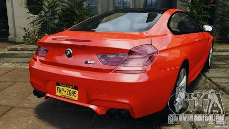 BMW M6 F13 2013 v1.0 для GTA 4 вид сзади слева
