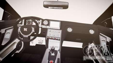Nissan GT-R R35 2010 для GTA 4 вид сверху
