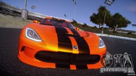Dodge Viper GTS 2013 v1.0 для GTA 4 вид сзади