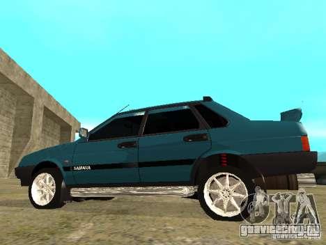 ВАЗ 21099 sparco tune для GTA San Andreas вид слева
