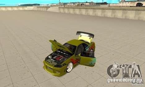 Nissan Skyline R34 GTR для GTA San Andreas вид сзади