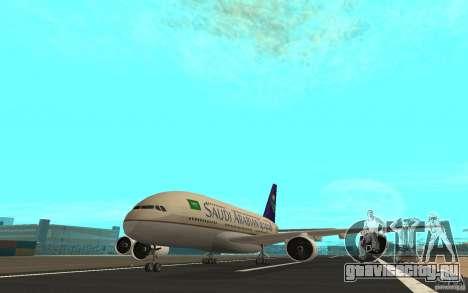 Airbus A380 - 800 для GTA San Andreas вид слева