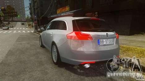 Opel Insignia Sports Tourer 2009 для GTA 4 вид сзади слева