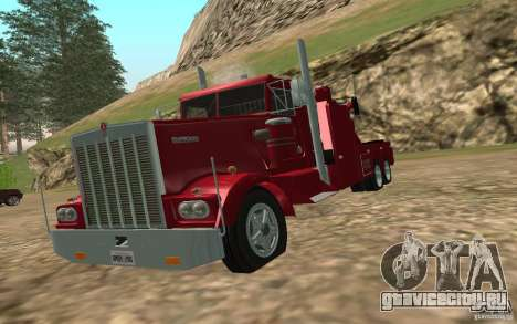 Kenworth Towtruck для GTA San Andreas вид сзади
