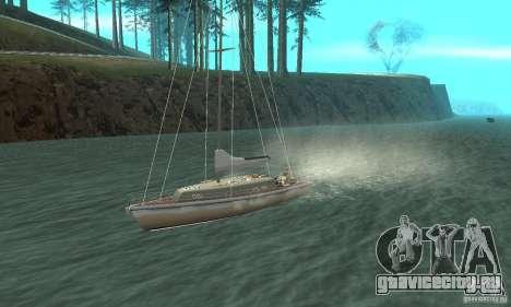 Marquis Segelyacht 09 Textures для GTA San Andreas вид изнутри