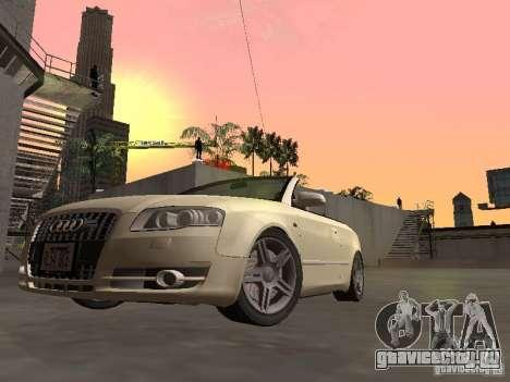 Audi A4 Convertible v2 для GTA San Andreas вид сзади слева