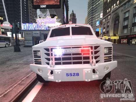 Lenco Bearcat NYPD ESU V.2 для GTA 4 вид слева