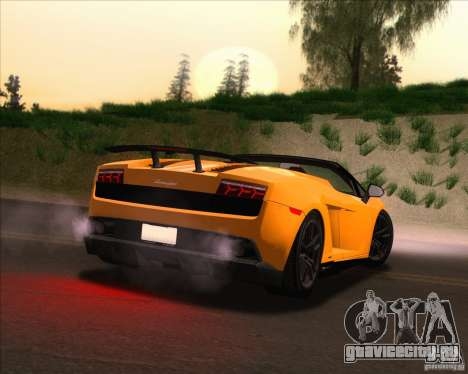 Lamborghini Gallardo LP570-4 Spyder Performante для GTA San Andreas вид сверху