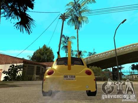 Volkswagen Beetle Pokemon для GTA San Andreas вид сзади слева
