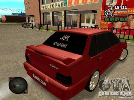 ВАЗ 2115 ФЫР Beta для GTA San Andreas вид слева