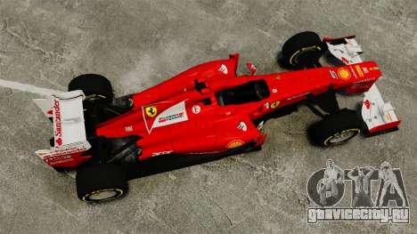 Ferrari F2012 для GTA 4 вид справа
