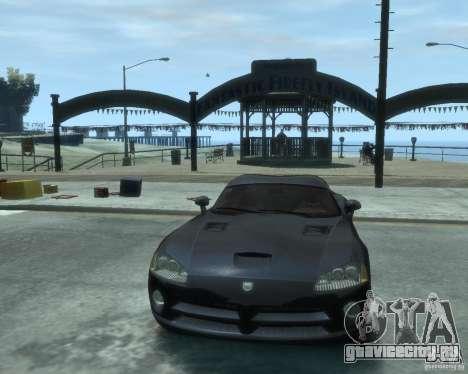 Dodge Viper srt-10 Coupe для GTA 4 вид сзади