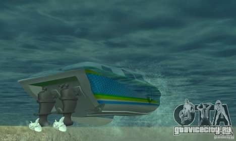 Speed Motorboat для GTA San Andreas вид изнутри