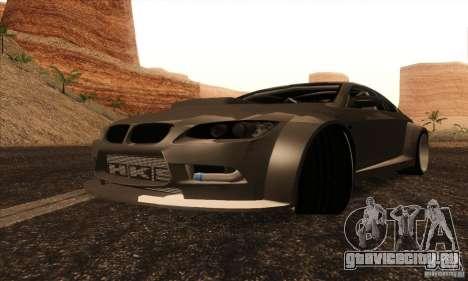 BMW M3 E92 Tuned v2 для GTA San Andreas вид сзади слева