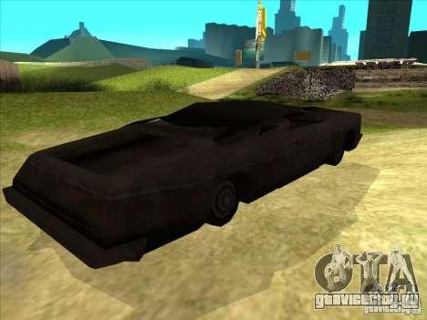 Real Ghostcar для GTA San Andreas вид справа
