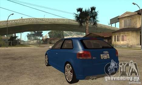 Audi S3 2007 - Stock для GTA San Andreas вид сзади слева