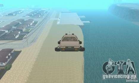 DeLorean DMC-12 (BTTF2) Самолет для GTA San Andreas вид справа