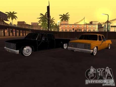 Chevrolet Silverado Lowrider для GTA San Andreas вид сзади