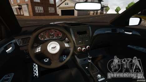 Subaru Impreza Cosworth STI CS400 2010 v1.2 для GTA 4 вид сзади