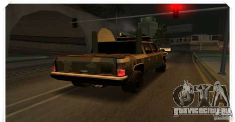 New Rancher для GTA San Andreas вид сзади слева