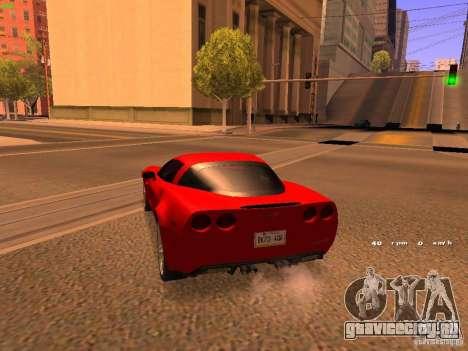 Chevrolet Corvette Z06 для GTA San Andreas вид сзади слева