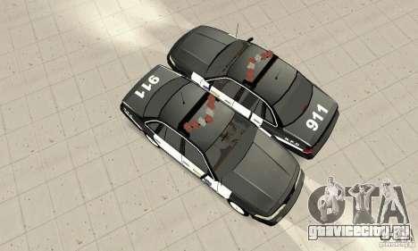 Ford Taurus 1992 Police для GTA San Andreas вид сзади