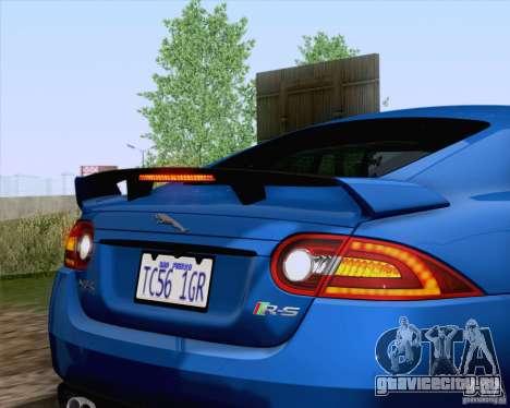 Jaguar XKR-S 2012 для GTA San Andreas вид изнутри
