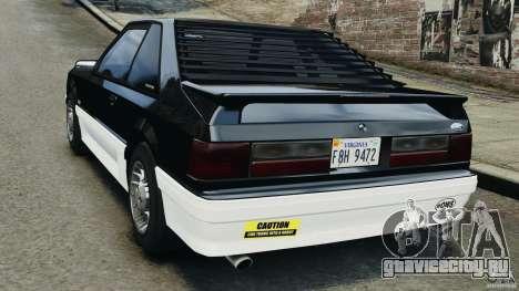 Ford Mustang GT 1993 v1.1 для GTA 4 вид сзади слева
