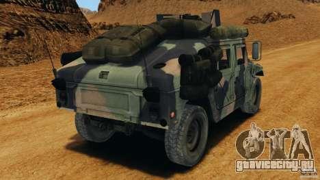 HMMWV M1114 v1.0 для GTA 4 вид сзади слева