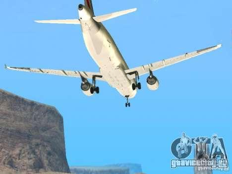 Airbus A320 Air France для GTA San Andreas вид изнутри