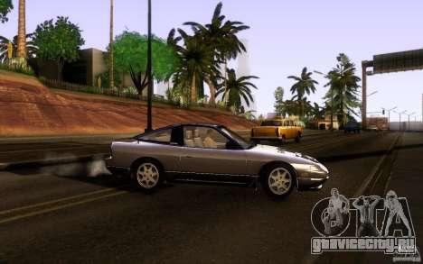 Nissan 180SX Kouki для GTA San Andreas вид изнутри