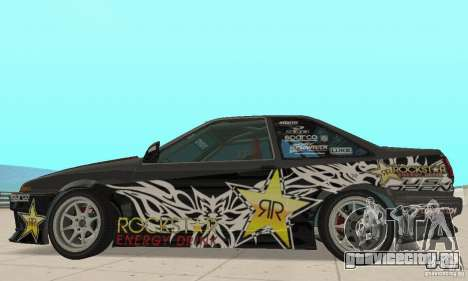 Toyota AE86wrt Rockstar для GTA San Andreas вид сзади слева