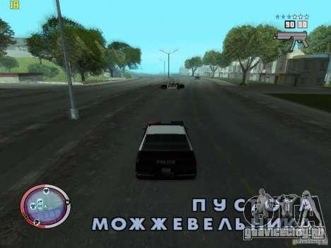 Дополнение к GTA IV HUD для GTA San Andreas второй скриншот