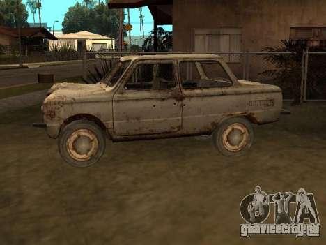 Запорожец из С.Т.А.Л.К.Е.Р. для GTA San Andreas вид слева