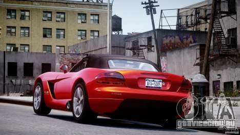 Dodge Viper SRT-10 2003 1.0 для GTA 4 вид сзади слева